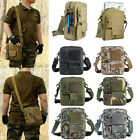 Small Canvas Messenger Bag Tactical Crossbody Casual Pack For Hiking & Traveling