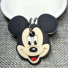 cute Cartoon Anime Keychain Cute Silicone Mickey Stitch Bear Key Cover Cap Women