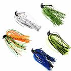 1Pcs 7g /10g/14g Artificial Bait Mixed Colour Lead Fishing Lures Skirts Jigs