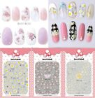 Women's Elegant Floral Nails Art Manicure Glue Decal Decorations Sticker Beauty