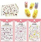 Women Nails Art Manicure Back Glue Decal Cartoon Patterns Decorations Sticker