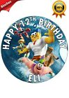 SPONGEBOB THE MOVIE PERSONALISED BIRTHDAY CAKE CUPCAKES TOPPER WAFER PAPER