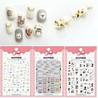 Women Nails Art Manicure Glue Decal Decorations Sticker 8cm X 10.5cm Per Sheet