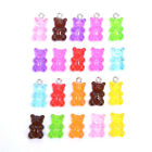 10Pcs/Set  Acrylic Candy Color Bear Charms Pendants DIY Jewelry Making Cr kz