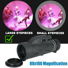 High Power 80x100 HD Monocular Telescope Shimmer Night Vision Outdoor Hiking image