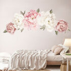 UK Pink Peony Flower Wall Stickers Kids Baby Nursery Decor Mural Decal Top YY UK