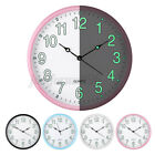 12'' Wall Clock Glow In The Dark Silent Quartz Indoor Outdoor Luminous