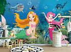 3D Mermaid Girl B996 Business Wallpaper Wall Mural Self-adhesive Commerce Amy