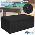 7ft/8ft Outdoor Pool Snooker Billiard Table Cover Polyester Waterproof Cap Black $33.83 AUD on eBay