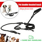 Dual Double Dog Leash No Tangle Coupler Nylon Leash for Two Large / Small Dogs