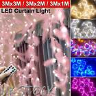 Led Curtain String Light Fairy Lights Wall Lamp Usb Waterproof Party Home Decor