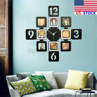 US Art Photo Frame Wall Clock Picture Collage Clock Display Home Office