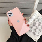 REAL GLASS Case for iPhone 11 PRO MAX X XR XS 8 7 Liquid Cover SILICONE