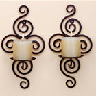 Iron Scroll Candle Holder Candlestick Wall Hanging Sconce Home Wedding