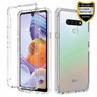 For LG Stylo 6 Case Crystal Clear Ultra Slim Armor Cover/Glass Screen Protector