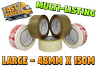 PACKAGING PACKING TAPE STRONG - BROWN / CLEAR / FRAGILE 48mm x 150M PARCEL TAPE