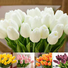 10 Artificial Tulip Flowers False Fake Bouquet Real Touch Home Wedding Decor Nv