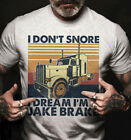 I Don't Snore I Dream I'm A Jake Brake Funny Vintage Trucker, Men tshirt trend