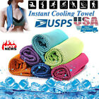 ICE Cold Cool Cooling Towel Sports Workout Fitness Gym Yoga Pilates Chilly Towel image