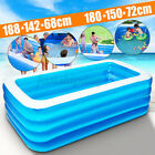 3/4 Layers Large Family Inflatable Swimming Pool Garden Outdoor Summer Paddling
