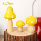 Wooden Miniature Fairy Toadstool Mushroom House Home Crafts Ornaments CO