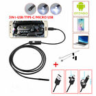 Android USB /TYPE-C Endoscope Inspection 7mm Camera 8 LED Waterprof Kits From US