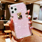 For iPhone 11 Pro Xs Max XR 8p Square Slim Crystal Clear TPU Trunk Glitter Case