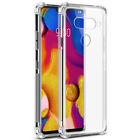 For LG G8X ThinQ G7 K30 V40 Q60 Shockproof Silicone Transparent TPU Case Cover