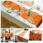 Table Runner Lace Pumpkin Halloween Tablecloth Thanksgiving Table Topper Cover C