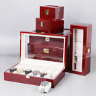 6 Sizes Slot Watch Display Wood Case Box Jewelry Collection Storage Organizers image