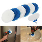 JN_ 7Pcs Cleaning Scouring Scrubber Backing Pad Electric Drill Brush Kit New T