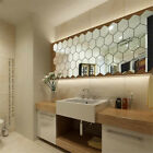 36X 3D Mirror Tiles Mosaic Wall Stickers Self Adhesive Bedroom Art Decal Home HM