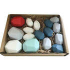 Kids Baby Toys Creative Wooden Colored Stacking Balancing Stone Building Blocks