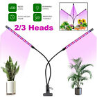 Growing Lamp LED Grow Light Plant Indoor Plant Hydroponics Timing Dimming w/Clip