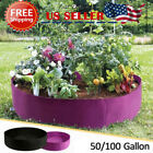 50/100 Gallon Foldable Reusable Fabric Raised Garden Bed Round Grow Bag Planter