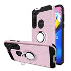 For Motorola Moto G Power 2020 Case Ring Kickstand Cover + Full Screen Protector