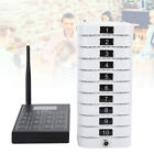 Wireless Cafe Calling Queue System Coaster Pager Transmitter 10 Receivers Pagers