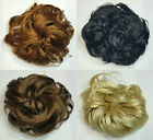 """Scrunchie Lacey 3.5"""" Long Curly Hair Ponytail Holder Hairpiece - Choose Color"""