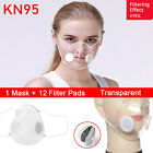 Transparent Face Mask With Air Valves &10x Fliter Pads Visible Mask For The Deaf