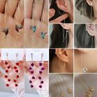 Внешний вид - Hummingbird Earrings Stud Threader Long Drop Tassel Crystal Dangle Wholesale Hot