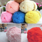 1roll Soft Fluffy Knitted Woven Baby Knitting Wool Yarn For Sweater Hat Scarf