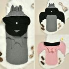 Newborn Halloween Cartoon Bat Sleeping Bag Baby Boys Girls Hooded Swaddle Sack