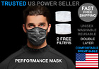 Kyпить Performance Working Out Face Mask Breathable Washable Reusable PM2.5 Filter Camo на еВаy.соm