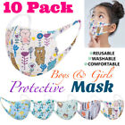 10PCS Washable Reusable Kids Mix Colors Cartoon Characters Face Mask Protective