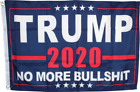 Donald-Trump 2020 Flag No More BS  American USA Trump Flag Keep America Great US