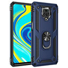 For Xiaomi Redmi Note 9S 8 9 Pro 8T Case Shockproof Hard Armor Ring Holder Cover