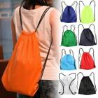 Foldable Drawstring Backpack Bag Outdoor Sports Gym Pack Travel Storage Ho