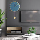 Pendulum Clock Wall Mounted Brass Pointer Silent Swing Clock for Home Decoration