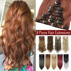Clip In 8 Pieces Hair Extensions Real Long Thick Full Head Natural As Human