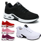 Womens Lace Up Trainers Ladies Flat Comfy Fitness Gym Running Sports Shoes...